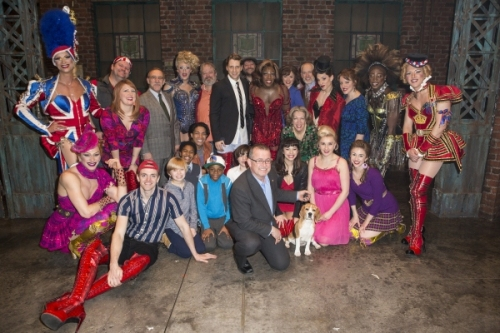 Miss P and the Cast of Kinky Boots Broadway Musical