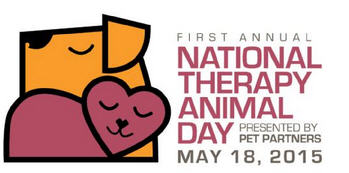 First Annual National Therapy Animal Day May 18 2015 sponsor Pet Partners