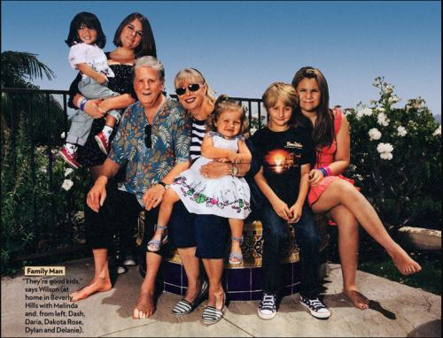 Brian Wilson wife Melinda and 5 adopted children 2012